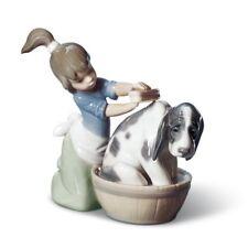 Lladro Bashful Bather Dog Figurine 01005455 / 5455