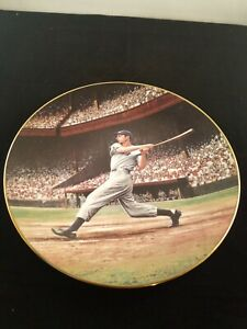 Collectible Plate Joe DiMaggio The Streak Great moments in baseball