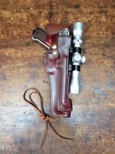 """Leather Holster For Scoped Ruger MK III, MK IV with 6 7/8"""" barrel # 48520"""