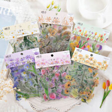 40pcs DIY Paper Diary Flower Stickers Korean Japanese Journal Scrap Booking