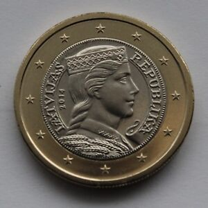 LATVIA - 1 € Euro circulation coin 2014 uncirculated coin from roll