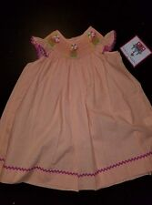 Castles And Crown dress sz 18-24  Girl Smocked D Sand Pail Crab orange beach new
