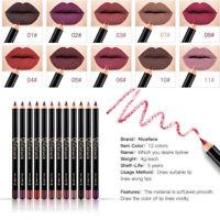 Waterproof Pencil Lipstick Set Pen Matte Lip Liner Long Lasting Makeup 12Colors