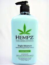 Hempz Triple Whipped Herbal Body Moisturizer Lotion 17oz