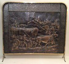 Vintage Brass/Copper Fire Screen