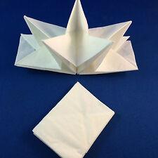 white napkins origami folded star shaped bulk lot 24 serviettes dinner plate