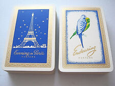 VINTAGE PLAYING CARDS BOURJOIS PERFUME ENDEARING & EVENING IN PARIS TWIN DECK