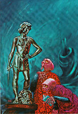 KELLY FREAS ART POST CARDS COMPLETE SET OF 8 LARGE SIZE