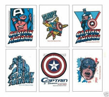 12 Captain America Temporary Tattoo Kid Party Goody Loot Bag Filler Favor Supply