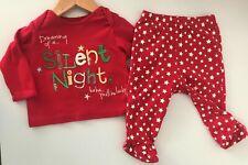 """Bebé Navidad 6-9mth Top & Pantalones """"soñando con un Silent Night.. s afortunado"""""""