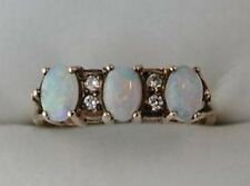 Vintage Fabulous 9ct Gold, Opal & Diamond Ring