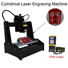Cylindrical Laser Machine Engraving with 15W Laser Module Cans Engraver Printer