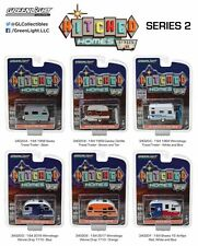 GREENLIGHT HITCHED HOMES SERIES 2, SET OF 6 TRAILERS 1/64 DIECAST MODELS 34020