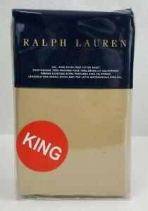 Ralph Lauren RL 624 Solid Sateen California King Extra Deep Fitted Sheet Bronze