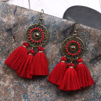 Long Fashion Women Tassel Bohemian Dangle Boho Earrings Vintage Earrings Fringe
