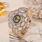 Women 's Ladies Flower Crystal Luxury Dress Watch Gold Bracelet Wrist Watches AU
