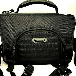 Quantary Professional Camera Bag Black Nylon With Shoulder Strap Excellent Cond