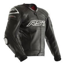 RST Tractech Evo R Leather Sports Motorcycle Motorbike Jacket Black UK 46 NEW