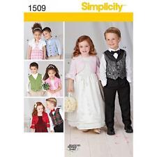 Simplicité motif de couture enfant gilet bolero & Nœud Papillon Tailles 3 - 8 1509