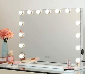 Hollywood Schminkspiegel mit Beleuchtung, 58 x 43 cm, weiß