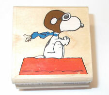 Rubber Stampede Snoopy rubber stamp Flying Ace Snoopy A401C Wood mounted Peanuts