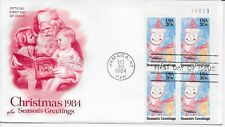 US Scott #2108, First Day Cover 10/30/84 Jamaica Plate Block Christmas
