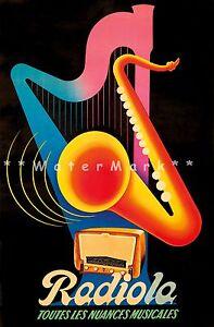 Radiola 1939 Jazz Musical Nuances Vintage Poster Print Retro Style Wall Art