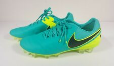 Nike Tempo Legend Vi Fg Mens Soccer Cleats Jade/volt/black 819177 307 Size 6
