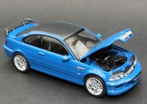 1:43 Kyosho model: 2001 BMW M3 GTR V8 Street Version in Blue, Carbon & Black
