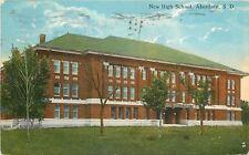 Aberdeen South Dakota~New High School~1918 Postcard