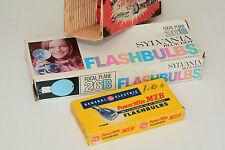 flashbulbs,GE m2b powermite, sylvania 26b,in vintage box, exellent+, NOS + extra