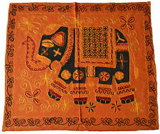 """Elephant Wall Hanging Indian Hippy Ethnic Sequin Tapestry Embroidered 34"""" 86cm"""