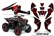 Can-Am Renegade Graphics Kit by CreatorX Decals Stickers SKULL CHIEF RED