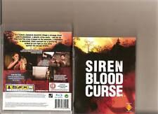 Siren Blood Curse PLAYSTATION 3 PS3 nominal 18 Horror