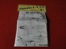 Vintage Rare Plastic Model Vacuum-Formed Project X 1:72 The Fairey FD.I