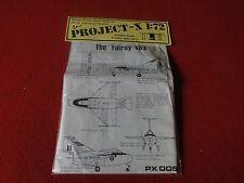 Vintage Rare Plastic Model Vacuum-Formed Project X 1:72 The Fairey FD.I