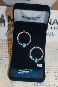 New in Box Montana Silversmiths Earrings~Silver River of Lights Bead Drop CZ's