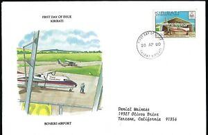 KIRIBATI FDC - AIR TUNGARU, BONRIKI AIRPORT - EUROPEAN SIZE - CACHETED!
