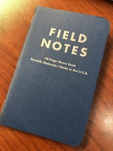 "FIELD NOTES New Old Stock, Indigo Ribbed Cover ""American Tradesman"""