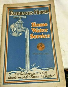 Fairbanks Morse home water service book pumps tanks systems