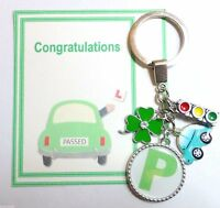 Congratulations on Passing Passed your Driving Test Gift Key ring 4 Leaf Clover