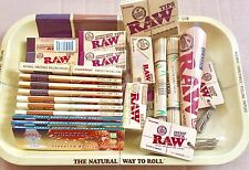 Raw Survivors Gift Set 1970's Style Small Metal Rolling Tray Over 100