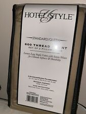 Hotel Style Standard Queen 600 Thread Count Pillowcases Set Of Two