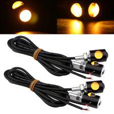 4Pcs Amber Eagle Eye LED 3W 1+1 Daytime Running Light License Plate Backup Bulbs