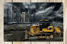 Catepillar Cat heavy equipment machinery farm metal tin sign metal art