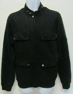 BARBOUR MOTORCYCLE CLOTHING MENS JERSEY JACKET SIZE M BLACK
