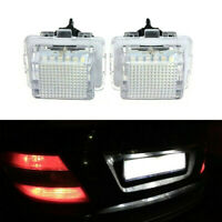 1 Pair LED License Plate Light Lamp Part For Mercedes W204 W212 C207 C216 W221