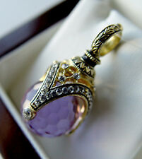 SALE !  BEAUTIFUL PENDANT made of STERLING SILVER 925 with AMETHYST 24K GOLD