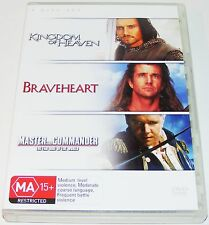 KINGDOM OF HEAVEN / BRAVEHEART / MASTER AND COMMANDER-- (Dvd 3 Disc Set)