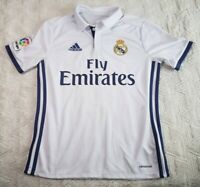 Adidas Climacool Youth Boys Soccer Jersey Size Large Real Madrid #11 Bale White